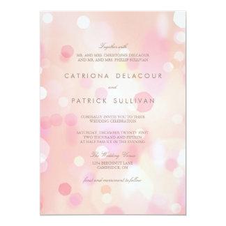 Färgrik pastell tänder Bokeh bröllopinbjudan 12,7 X 17,8 Cm Inbjudningskort