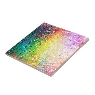 Färgrik pastell tonar Retro glitter Liten Kakelplatta