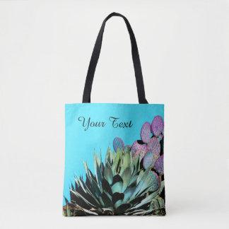 Färgrik personligtoto, Agave & kaktus Tygkasse