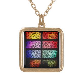 färgrik pläterad guld- neclace guldpläterat halsband