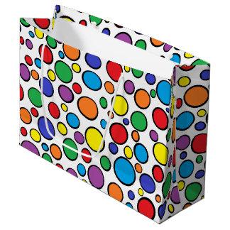 Färgrik polka dots