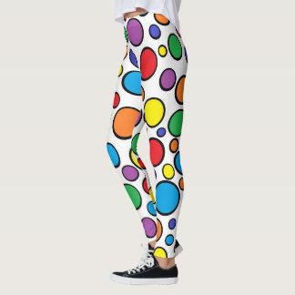Färgrik polka dots leggings