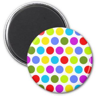 Färgrik polka dots magnet