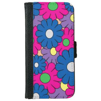 Färgrik popart blommar iphoneplånbokfodral iPhone 6/6s plånboksfodral