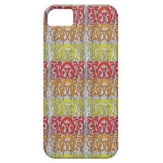 Färgrik präglad navinJOSHI för mönsterkonst NVN170 iPhone 5 Skal