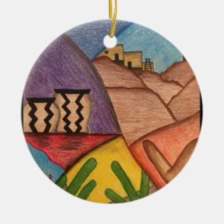 Färgrik prydnad för Southwestökenjul Julgransprydnad Keramik