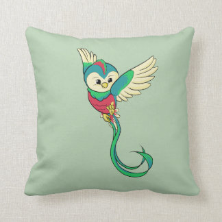 Färgrik Quetzal! Kudde