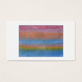 Färgrik randig Abstract. Visitkort