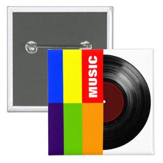 färgrik randmusikvinyl standard kanpp fyrkantig 5.1 cm