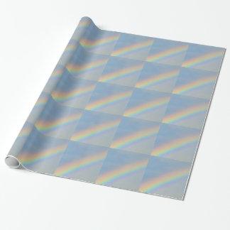 Färgrik regnbåge i blå himmel, foto presentpapper