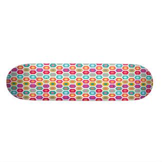 Färgrik regnbåge moderna geometriska Ikat Old School Skateboard Bräda 21,6 Cm