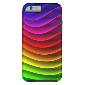 Färgrik regnbåge tough iPhone 6 fodral