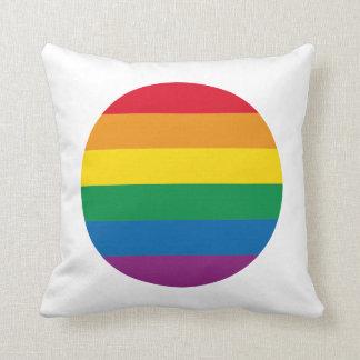 Färgrik regnbågedesign för pride | kudde
