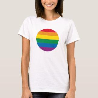 Färgrik regnbågedesign för pride | tee shirt