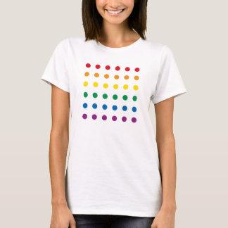 Färgrik regnbågedesign för pride   tee shirts