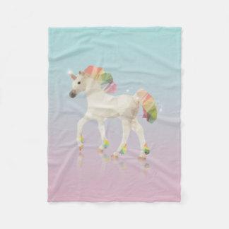 Färgrik regnbågeUnicornpolygon - ullfilt Fleecefilt