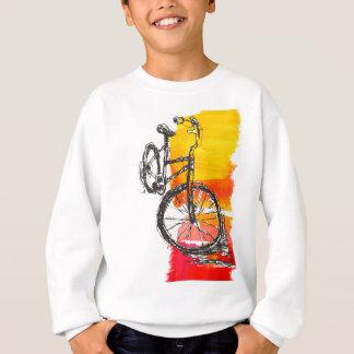 Färgrik röd cykel t shirt