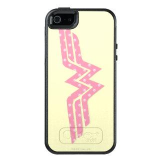 Färgrik rosa blom- logotyp för undra kvinna OtterBox iPhone 5/5s/SE skal