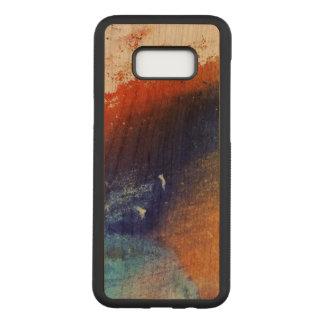 Färgrik Samsung galax S8+ Slankt körsbärsrött Wood Carved Samsung Galaxy S8+ Skal