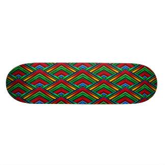 Färgrik Skateboard för geometrisk design