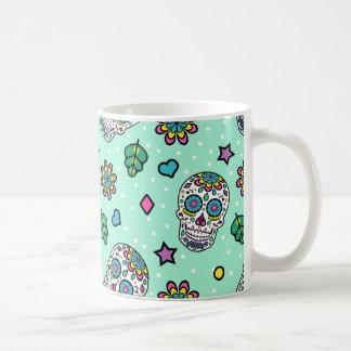 Färgrik sockerskalle för godis kaffemugg