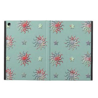 Färgrik sol- och stjärnadesign fodral för iPad air