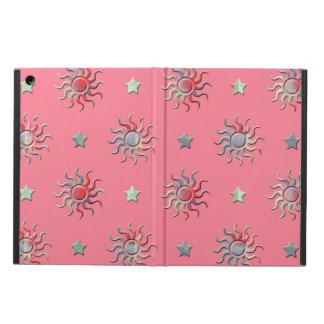Färgrik sol- och stjärnadesign iPad air skydd