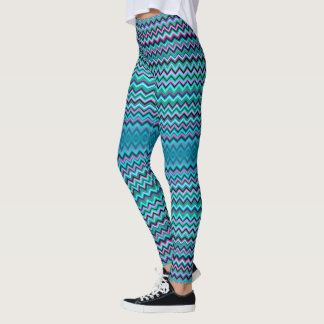 Färgrik sparre leggings