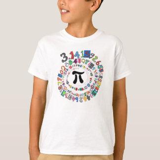 Färgrik spiral av siffror av Pi Tee