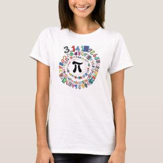 Färgrik spiral av siffror av Pi Tee Shirt