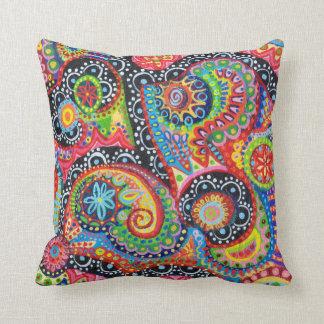 Färgrik stam- abstrakt konst kudder dekorativ kudde