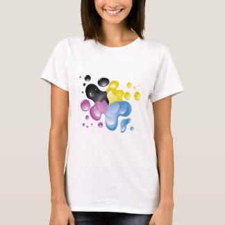 Färgrik stänkskjorta t shirts