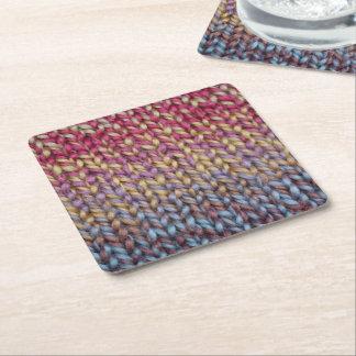 Färgrik sticka underlägg papper kvadrat