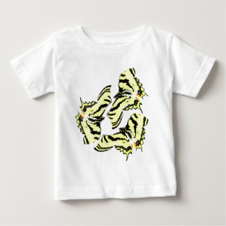 Färgrik Swirly för fjärilsfjärilar abstrakt konst T-shirt