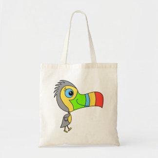 Färgrik Toucan Bird. Tygkassar