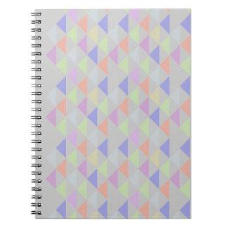 Färgrik triangelanteckningsbok anteckningsbok