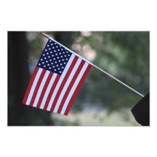 Färgrik US-flagga som är ljus och Fototryck