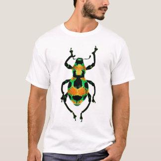 Färgrik utskjutande skjorta t-shirts