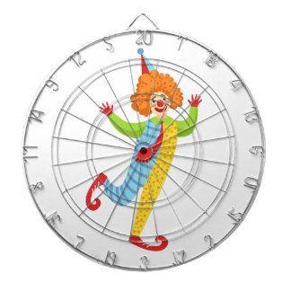 Färgrik vänlig clown med tien i klassikerdräkt darttavla