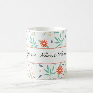Färgrik vår blommor som gifta sig tema kaffemugg