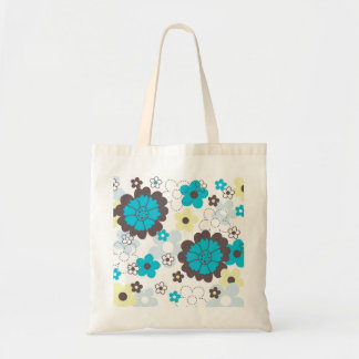 Färgrik vår blommortote bags tygkasse