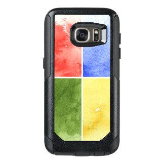 färgrik vattenfärgbakgrund för din design OtterBox samsung galaxy s7 skal