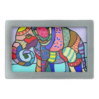 Färgrik vibrerande abstrakt folcloristic elefant