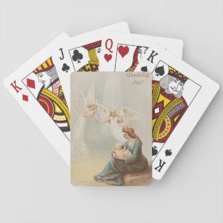Färgrik vintage Mary med det bebisJesus däcket Casinokort