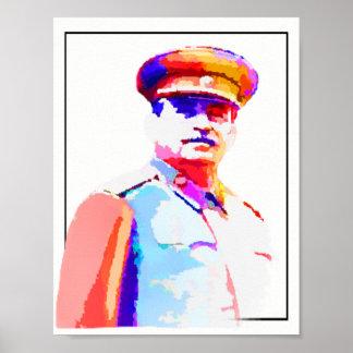 Färgrik vintageJoseph Stalin WW2 Ryssland diktator Poster