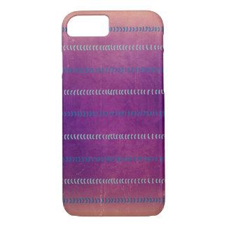 Färgrik Violet texturerat linjermönsterfodral