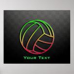 Färgrik volleyboll affisch
