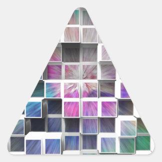 Färgrika 3D kuber 1 Triangelformat Klistermärke