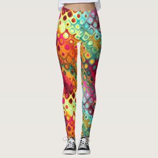 Färgrika abstraktdagdrömmar leggings