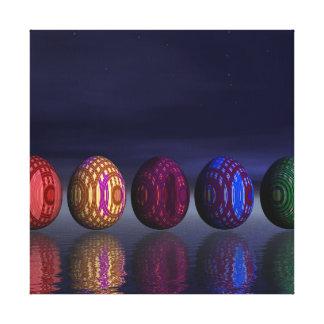 Färgrika ägg för påsk - 3D framför Canvastryck